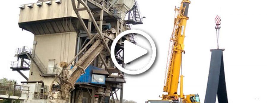 Inspectie en revisie overslag elevator bij IGMA Amsterdam
